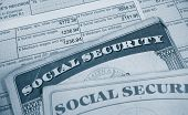 W2 tax form and Social Security cards poster