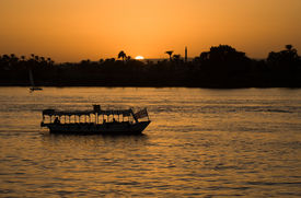 Boat And Nile Sunset