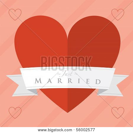 Just married heart design