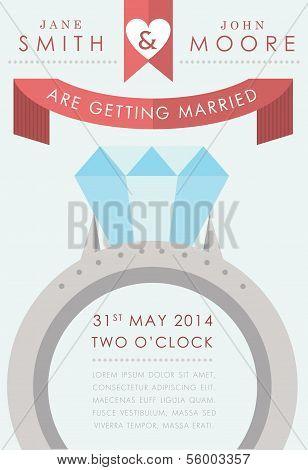 Wedding invitation large ring style