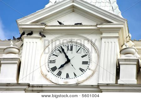 Aging Courthouse Clock