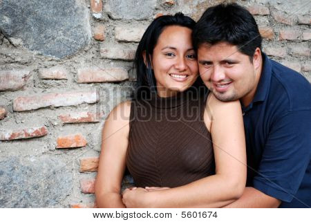Attractive Hispanic Couple in Love
