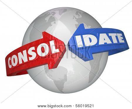 Consolidate Word Around Globe International Business Consolidation