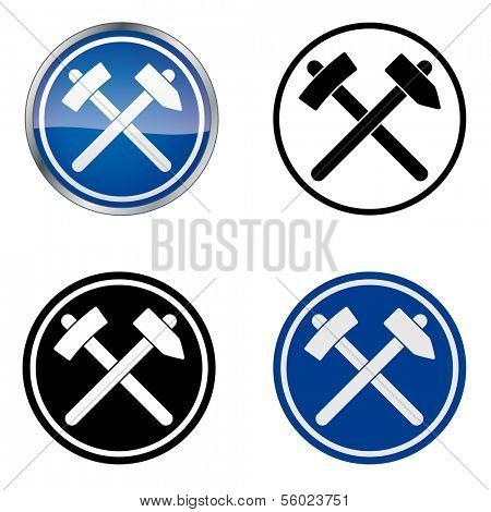 Miner - Traditional Craftsmen's Guild Vector Symbol, four variations