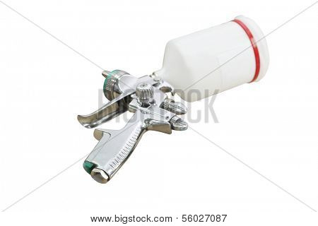 airbrush isolated under the white background
