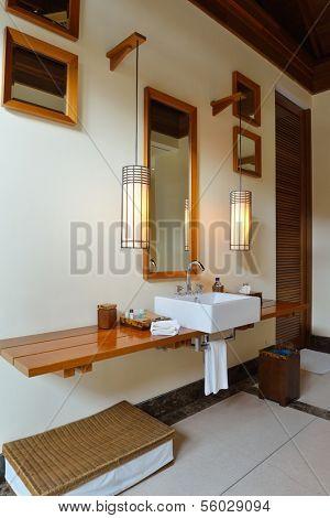 Luxury modern beautoful bathroom suite indoor poster
