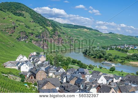 Uerzig,Mosel River,Mosel Valley,Germany