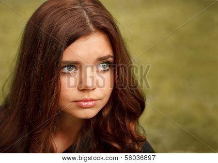 Sad Young Female