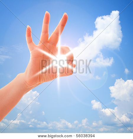 Closeup of man's hand gesturing