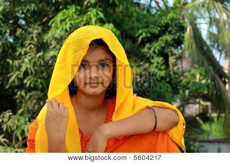 Mädchen aus ein Indianisches Dorf