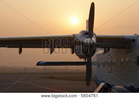 Plane Waiting For Flight To Lukla, Nepal