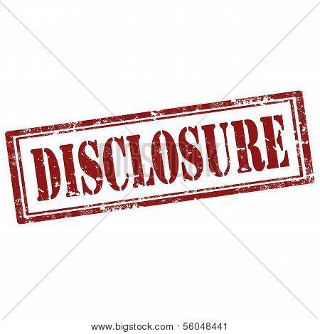 Disclosure-stamp