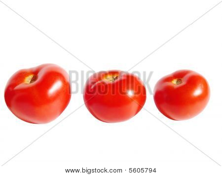 Three Red Ripe Tomatos