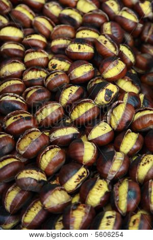 Italy, Rome, autumn, broiled chestnuts for sale poster