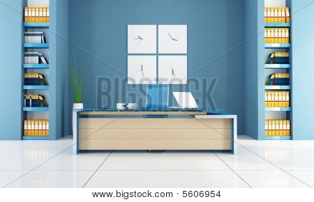 Blue Modern Office Space