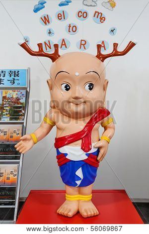 Nara, Japan - November 16 2013: Sento-kun Is A Mascot Created By Nara City Office To Commemorate The