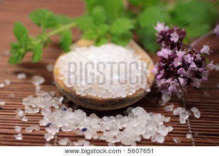 Wooden Spoon With Bath Salt