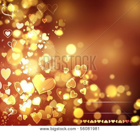 Valentine Hearts Abstract Background. St.Valentine's Day Wallpaper. Heart Holiday Backdrop poster