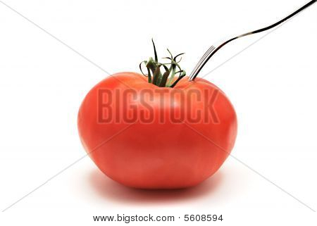 Tomato On Plate