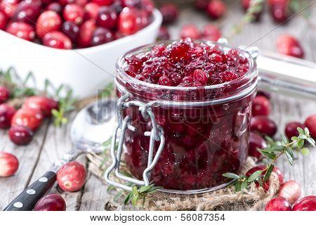 Portion Of Cranberry Jam