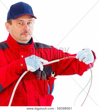 Plugging Cable In Tube