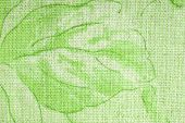 green floral linen fabric hessian texture background poster