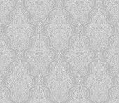 Illustration of an intricate seamlessly tilable repeating vintage Islamic motif pattern poster