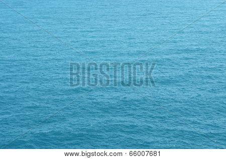 Blue Water Surface With Smooth Wave Texture