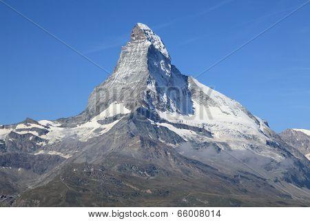 triangular shaped Matterhorn mountain