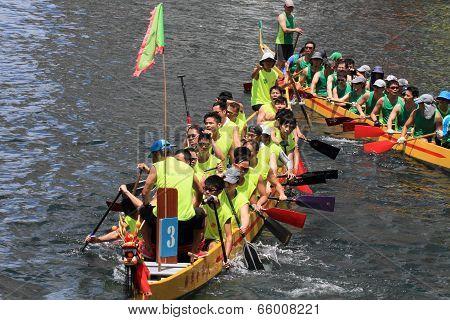 dragon boat race at Chai Wan, Hong Kong