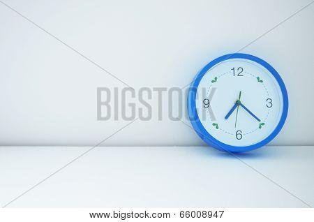 Blue Clock On Wall