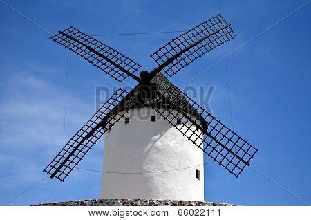 Old windmill in La Mancha