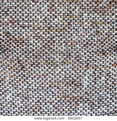 Old woven brown fabric