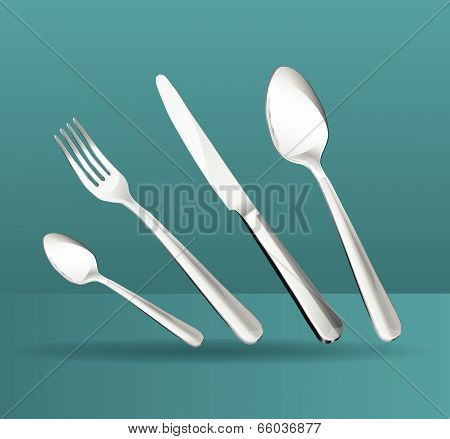 set of tableware