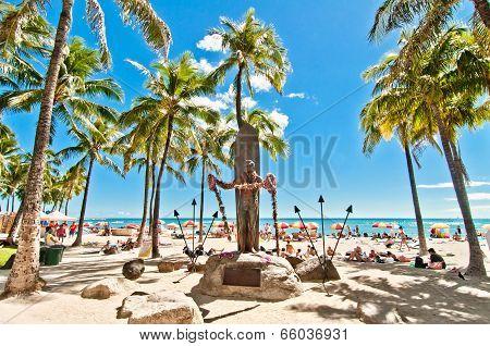 Waikiki beach in Honolulu, Hawaii