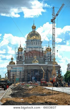 New Christian Cathedral Is Being Built In Central Russia.