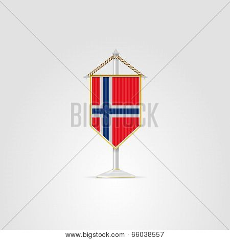 Illustration of national symbols of European countries. Norway.