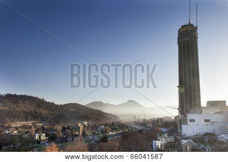 Costanera Center under construction, Providencia, Santiago, Chile