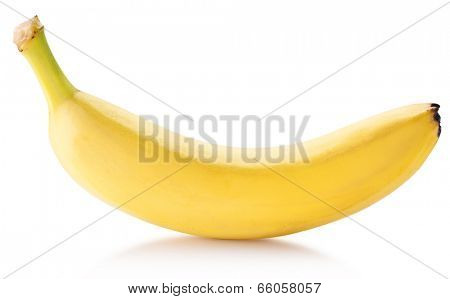 Banana fruit over white. File contains clipping paths.