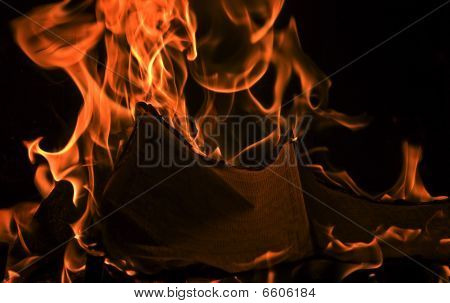 Book Burning Red Fire Flames of Hell. poster