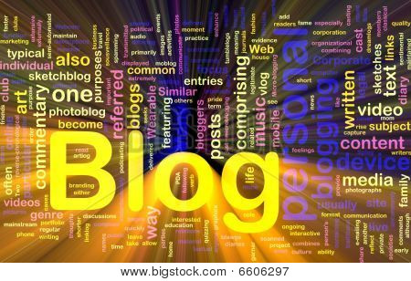 Web Blog Background Concept Glowing