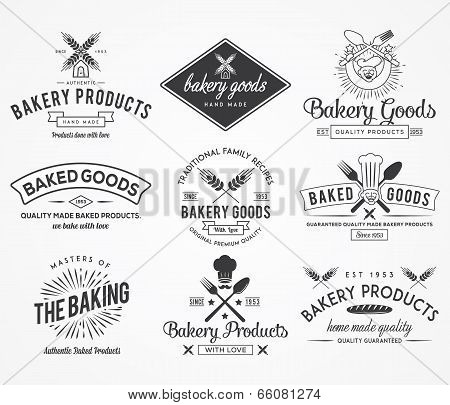 Vector bakery badges and crests for any use poster