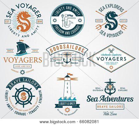 Sea Badges Colored