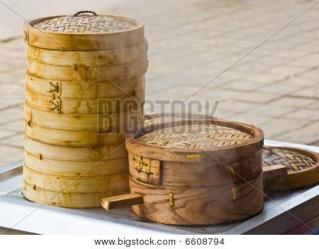 Bamboo Dumpling Steamer