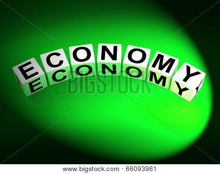 Economy Dice Show Monetary And Economic Predictions