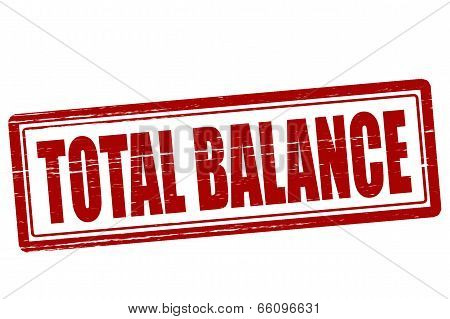 Stamp with text total balance inside vector illustration