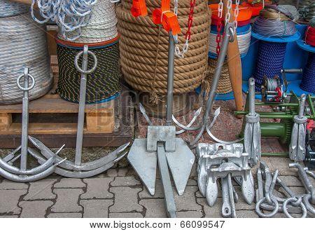 Boat Anchors, Rope and Tackle