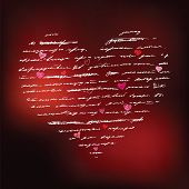 Heart design elements. Love. Handwriting vector background. poster