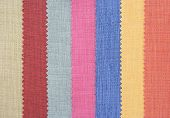 Multi color fabric texture samples or background poster