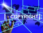 Copyright Screen Meaning International Patented Intellectual Property poster
